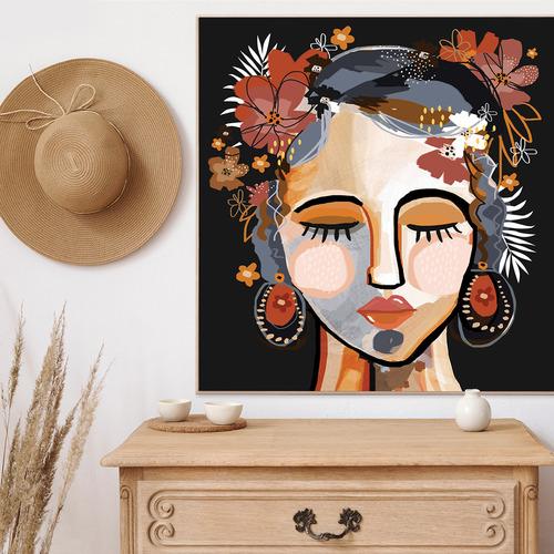 Ochre Isla Framed Canvas Wall Art