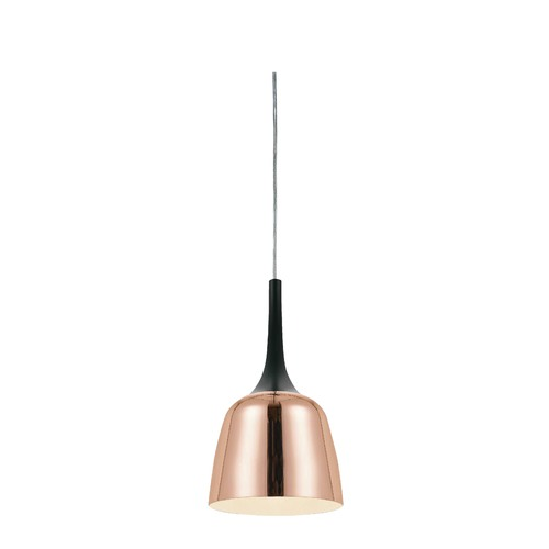 Spectra Lighting Cassius Black & Copper Pendant 20cm