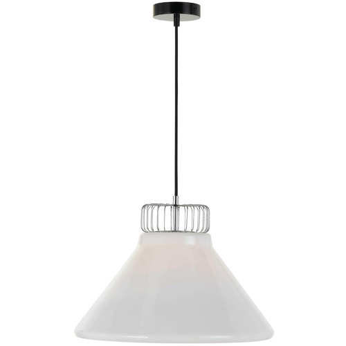 Wide Chrome Andy Pendant Light
