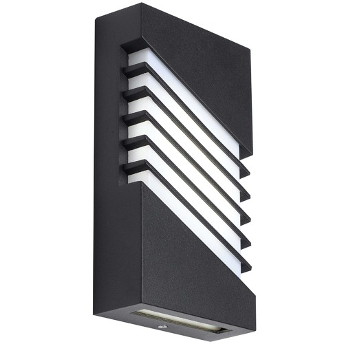 Telbix Black Atrium Outdoor LED Wall Lamp