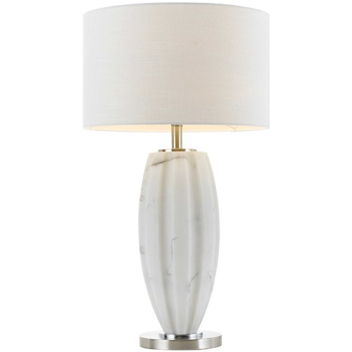 Spectra Lighting White Zamotek Ceramic Table Lamp