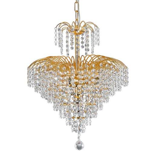 Spectra Lighting Gold Fontana Crystal Pendant Light