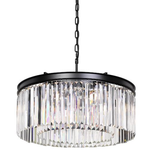 Spectra Lighting Klidny Crystal & Iron Pendant Light