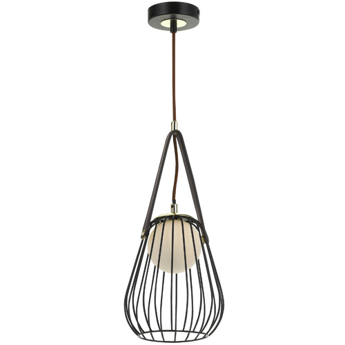 Spectra Lighting Carla Metal & Leather Pendant Light