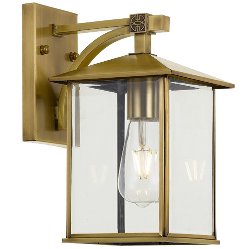 Spectra Lighting Coby Brass Outdoor Wall Light
