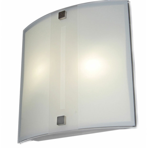 Frosted Merak Metal & Glass Wall Lamp