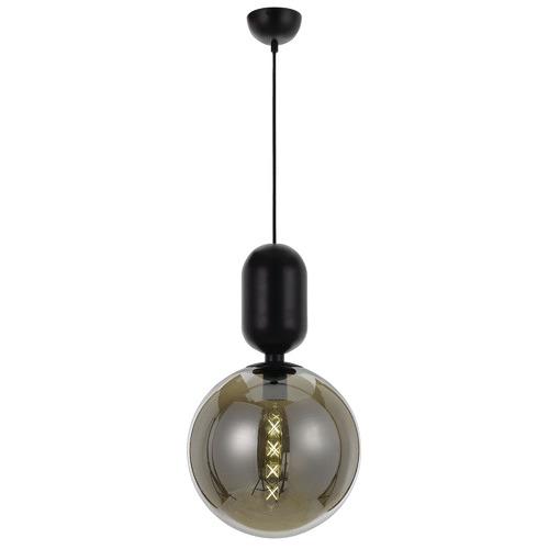 Spectra Lighting Black Kade Metal & Glass Pendant Light