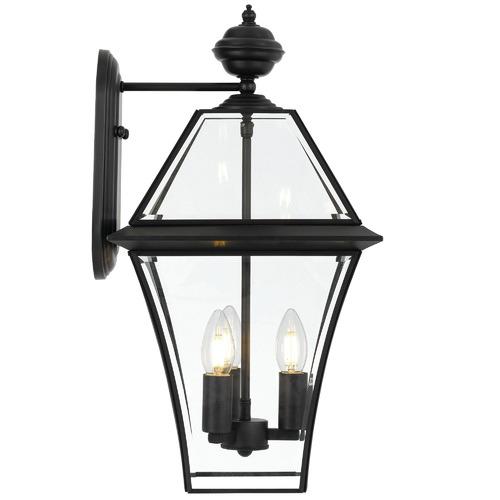 Spectra Lighting Black Rye Outdoor Wall Light