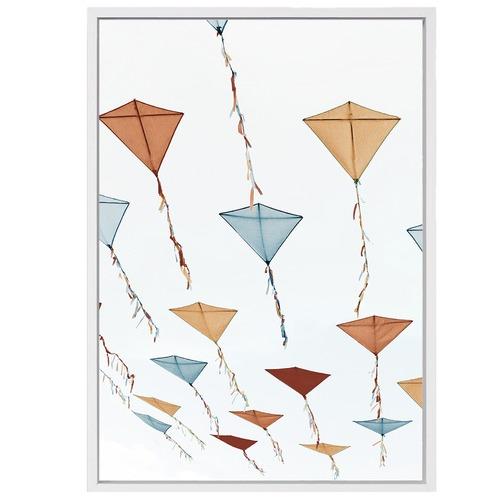 White Moose Kites Canvas Wall Art