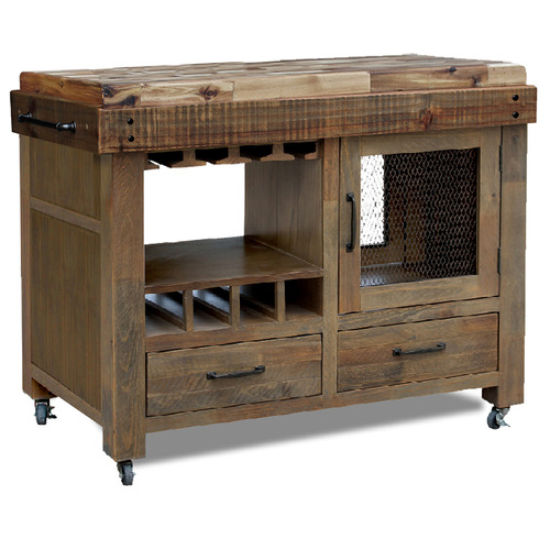 Hawthorne Home Soho Pine Kitchen Cart