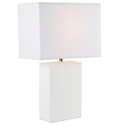 Watt & Bulb Tahoe White Base Table Lamp
