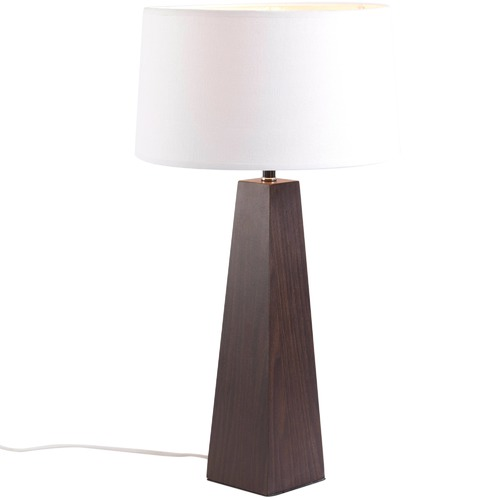 Watt & Bulb Walnut Playa Table Lamp