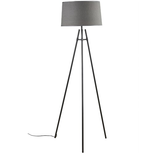 Watt & Bulb Black Delphi Floor Lamp