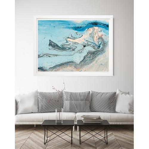 Beach Lane Blue Sea View Printed Wall Art