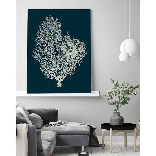 Beach Lane Deep Blue Coral Printed Wall Art