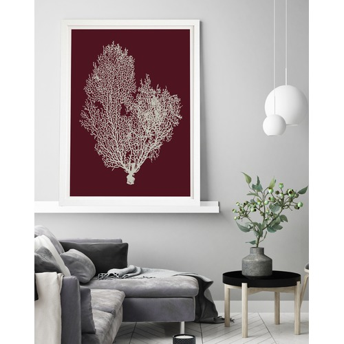 Beach Lane Deep Red Coral Printed Wall Art