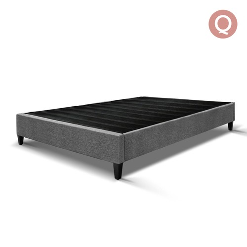 Dwell Home Grey Minimalist George Bed Base Frame