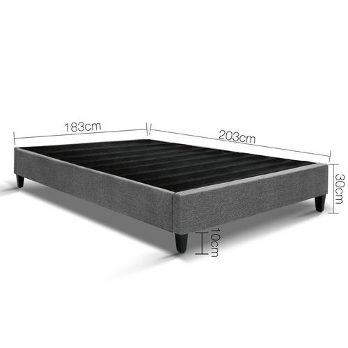 Dwell Home Grey Minimalist George Bed Base Frame