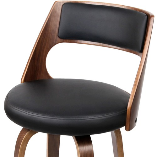 Dwell Home Marcus Swivel Faux Leather Barstools