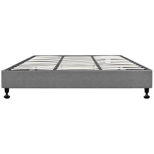 Dwell Home Grey Lennon Upholstered Bed Base