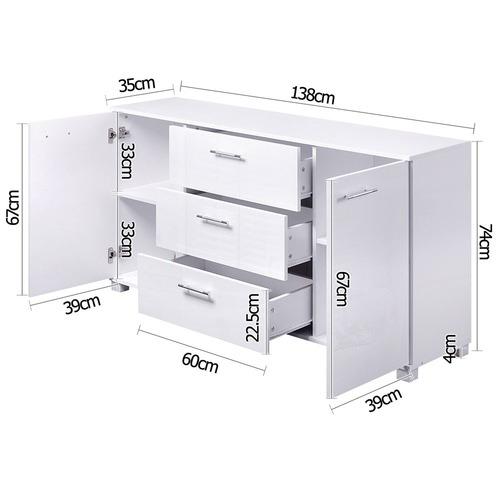 Dwell Home Sierra Coated Sideboard Cabinet