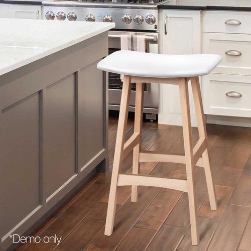 Dwell Home Sid Beech Wood Barstools