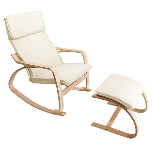 Dwell Home Harry Modern Recliner Chair & Foot Stool
