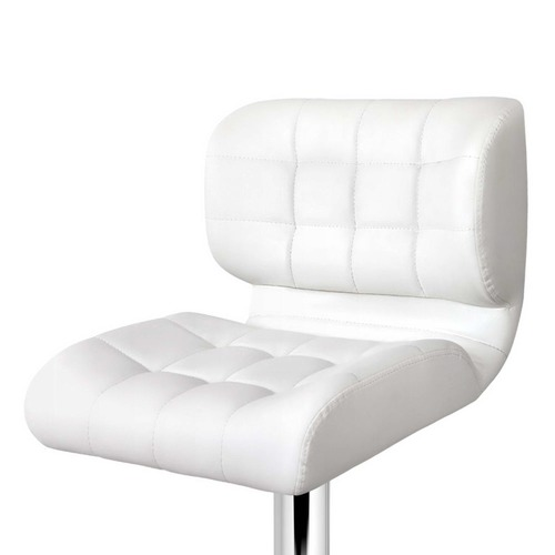 Dwell Home White Stacy Faux Leather Barstools