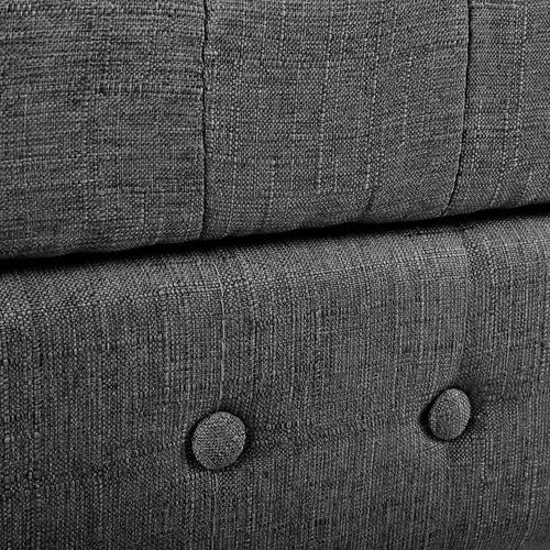Dwell Home Button Tufted Storage Ottoman