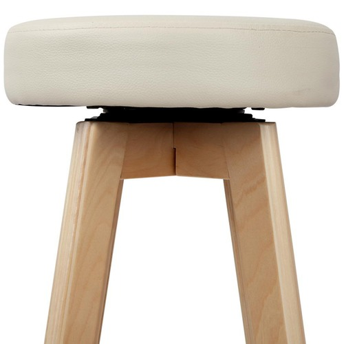 Dwell Home 65cm Beige Hester Faux Leather Barstools