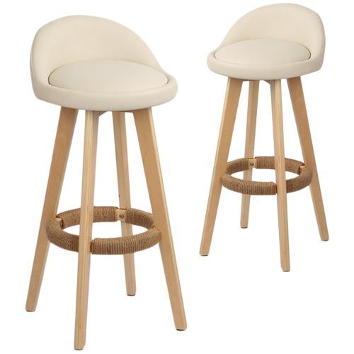 Stupendous Dwell Home Davar Barstools Set Of 2 Customarchery Wood Chair Design Ideas Customarcherynet