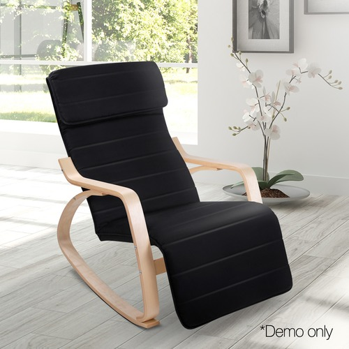 Dwell Home Carina Adjustable Modern Bentwood Recliner Chair