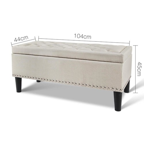 Dwell Home Taupe Salomi Storage Ottoman