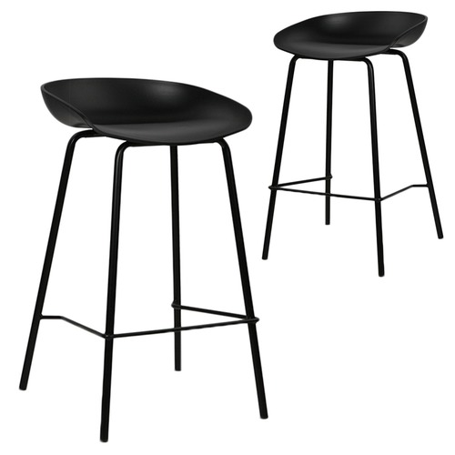 Superb Modern Deanna Moulded Seat Barstools Set Of 2 Caraccident5 Cool Chair Designs And Ideas Caraccident5Info