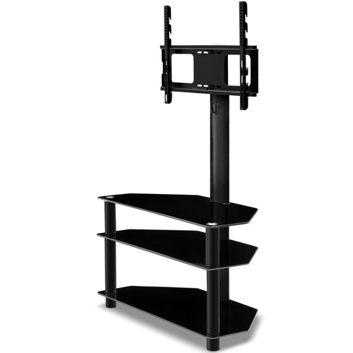 Dwell Home 3 Tier TV Floor Stand with Shelf Mount
