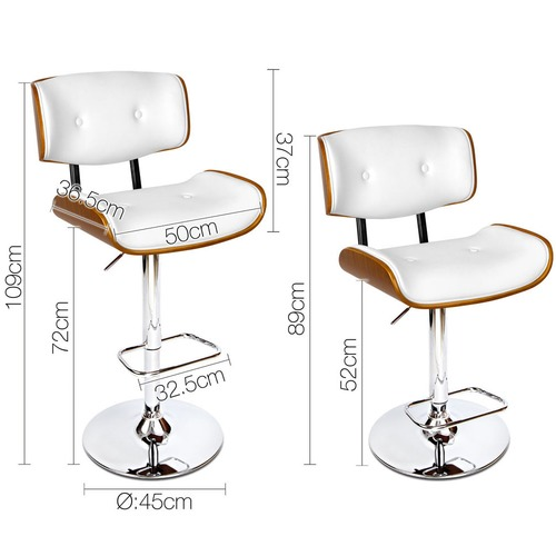 Dwell Home Modern Armstrong Faux Leather Barstool