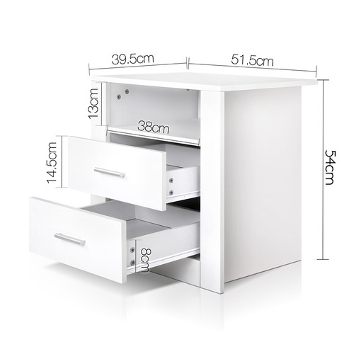 Dwell Home 2 Drawer Dale Bedside Table