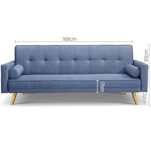 Ally 3 Seater Faux Sofa Bed Temple Webster