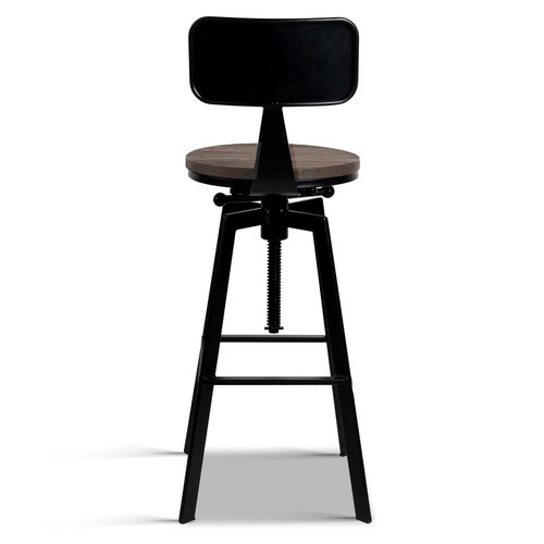 Dwell Home Rustic Kazuo Metal & Wood Industrial Barstool