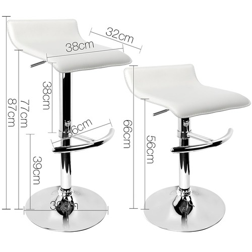 Dwell Home Pip Faux Leather Adjustable Barstools