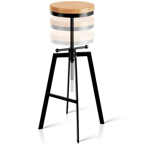 Dwell Home Adjustable Angelica Industrial Barstool