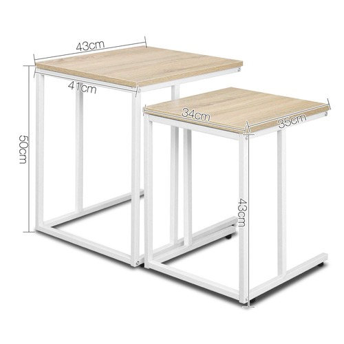 Dwell Home 2 Piece Nesting Side Table Set