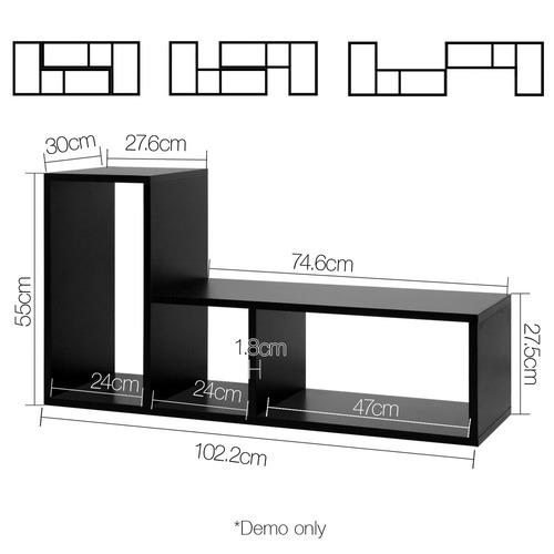 Dwell Home Black DIY L Shaped Display Shelf