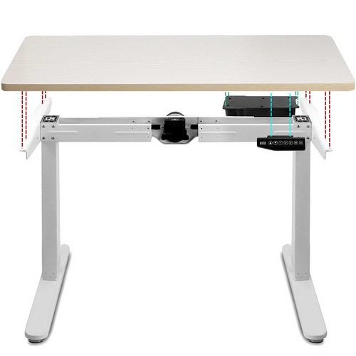 Dwell Home 100cm Motorised Height Adjustable Sit Stand Desk