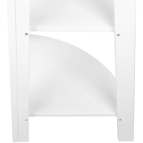 Dwell Home White 5 Tier Corner Ladder Bookshelf