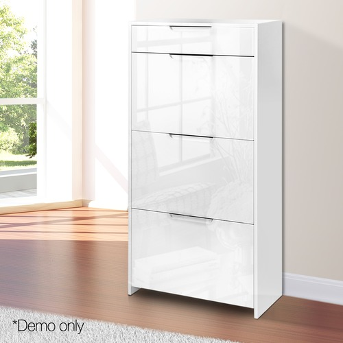Dwell Home Mercier High Gloss Wooden Shoe Cabinet