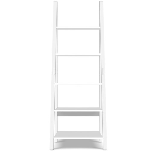 Dwell Home White 5 Tier Ladder Wall Shelf