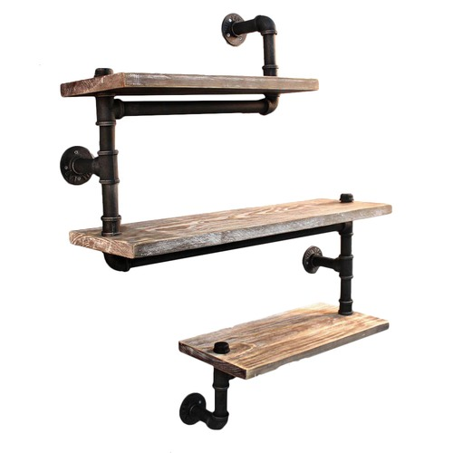 Dwell Home Industrial Floating Pipe Snake Shelf