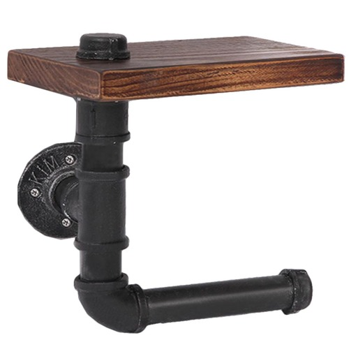 Dwell Home Industrial Floating Pipe Shelf Paper Holder