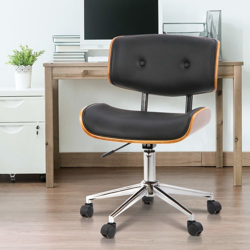 Dwell Home Executive Wooden Walnut Office Chair